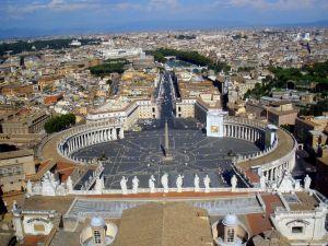 Trg Sv. Petra - pogled s kupole Bazilike
